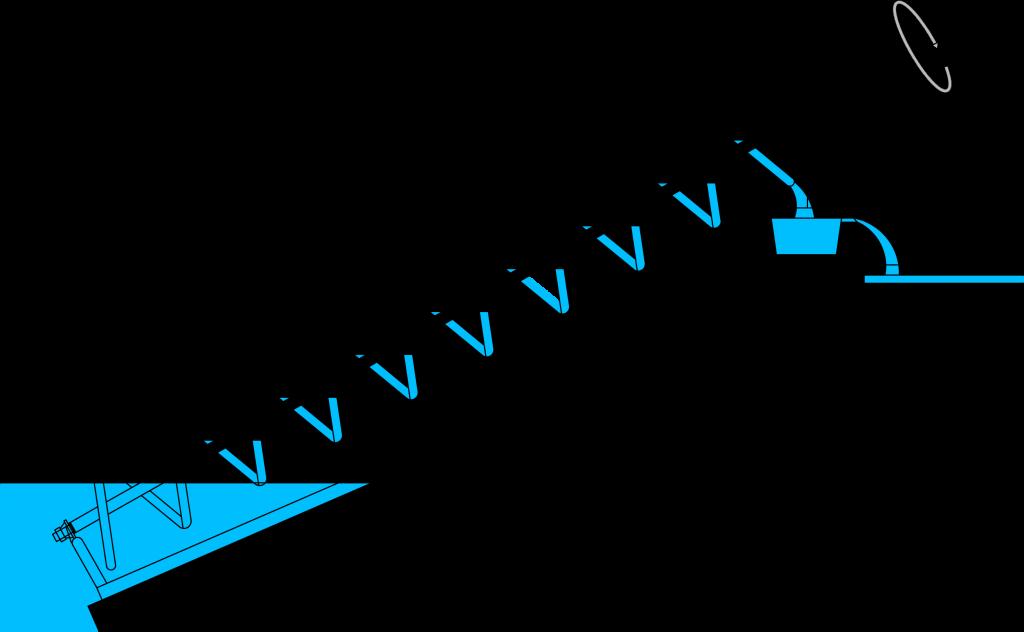 Prinzipdarstellung archimedische Schraube