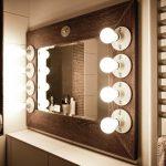 schminkspiegel beleuchtet theaterspiegel kosmetikspiegel mit beleuchtung